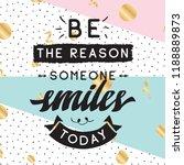 inspirational quote  motivation.... | Shutterstock .eps vector #1188889873