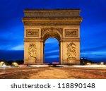 Arc De Triomphe  Paris  France...