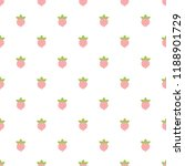 cute strawberry seamless... | Shutterstock .eps vector #1188901729