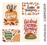 collection of thanksgiving day... | Shutterstock .eps vector #1188902839