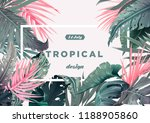 bright tropical background with ...   Shutterstock .eps vector #1188905860