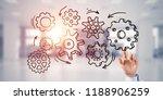 close of businesswoman hand... | Shutterstock . vector #1188906259