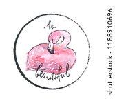 vector illustration. pink... | Shutterstock .eps vector #1188910696