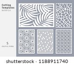 set decorative card for cutting.... | Shutterstock .eps vector #1188911740
