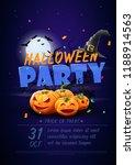 halloween night party poster  ... | Shutterstock .eps vector #1188914563