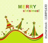 template christmas greeting card | Shutterstock . vector #118891630