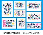 happy new year 2019  merry... | Shutterstock .eps vector #1188919846
