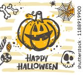 happy halloween card concept... | Shutterstock .eps vector #1188919900