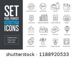 set pixel perfect high quality...   Shutterstock .eps vector #1188920533