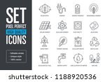 set pixel perfect high quality... | Shutterstock .eps vector #1188920536