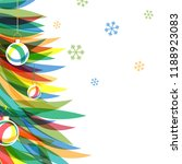 merry christmas and happy new... | Shutterstock .eps vector #1188923083