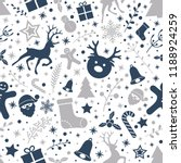 christmas wrapping paper with... | Shutterstock .eps vector #1188924259