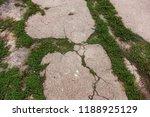 damaged road  cracked asphalt... | Shutterstock . vector #1188925129