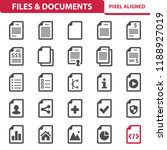 files   documents icons.... | Shutterstock .eps vector #1188927019