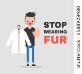 Stop Wearing Fur. Vegetarian...