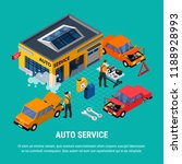 auto service isometric concept... | Shutterstock .eps vector #1188928993