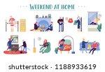 set of young men and women...   Shutterstock .eps vector #1188933619