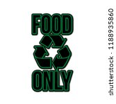 food only design good for t... | Shutterstock .eps vector #1188935860