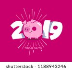 happy new year 2019 gift card ... | Shutterstock .eps vector #1188943246