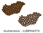 hungary    map of coffee bean ...   Shutterstock .eps vector #1188946573