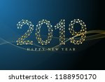 text design christmas and happy ... | Shutterstock .eps vector #1188950170