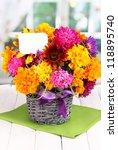 beautiful bouquet of bright...   Shutterstock . vector #118895740