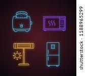 household appliance neon light...   Shutterstock .eps vector #1188965299