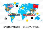 economic trade between usa and... | Shutterstock .eps vector #1188976933