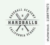 vintage baseball sport logo ... | Shutterstock .eps vector #1188979873