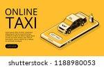 taxi online service vector... | Shutterstock .eps vector #1188980053