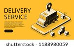 delivery service vector... | Shutterstock .eps vector #1188980059