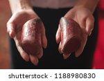 asian woman hand holding yin... | Shutterstock . vector #1188980830
