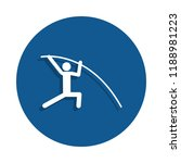 pole vaulting icon in badge...