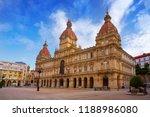 la coruna city town hall in...   Shutterstock . vector #1188986080