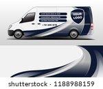 van wrap design. wrap  sticker... | Shutterstock .eps vector #1188988159