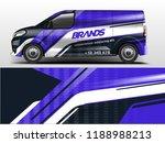 van wrap design. wrap  sticker... | Shutterstock .eps vector #1188988213
