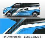 van wrap design. wrap  sticker... | Shutterstock .eps vector #1188988216