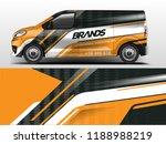 van wrap design. wrap  sticker... | Shutterstock .eps vector #1188988219