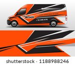 van wrap design. wrap  sticker... | Shutterstock .eps vector #1188988246