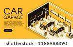 car garage auto repair mechanic ... | Shutterstock .eps vector #1188988390