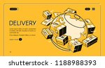 global postal mail delivery... | Shutterstock .eps vector #1188988393