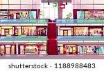 mall shop vector illustration... | Shutterstock .eps vector #1188988483
