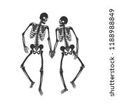 Two Lovers Of Skeleton On The...