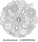 abstract hand drawn zentangle...   Shutterstock .eps vector #1188989446