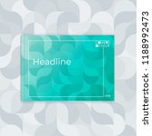 horizontal cover template a4 ... | Shutterstock .eps vector #1188992473