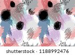 black doodle doots on abstract... | Shutterstock .eps vector #1188992476