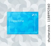 horizontal cover template a4 ... | Shutterstock .eps vector #1188992560