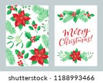 vector set of holidays design.... | Shutterstock .eps vector #1188993466