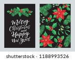 vector set of holidays design.... | Shutterstock .eps vector #1188993526