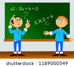student decides a very complex... | Shutterstock .eps vector #1189000549